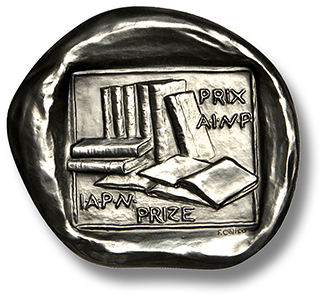 I.A.P.N. book award medal.