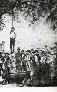Lynch law: execution of Rafael Escobar, being convicted of murderer. He was the tenth man who was being lynched on that tree.
