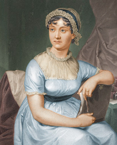 English author Jane Austen (1775-1817).