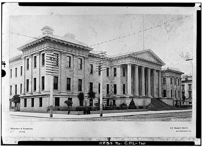 Building of the second San Francisco Mint, inaugurated in 1874.