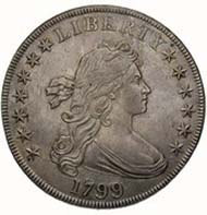 USA, 1 dollar, silver (26.96 g), Philadelphia, 1799