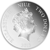 New Zealand / $ 2.00 / silver .999 / I oz / 40.1mm / Mintage 10,000.
