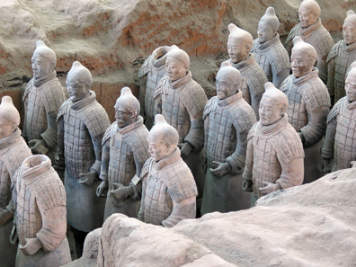 The history of chinese coinage 2 the cash archive coinsweekly group of soldiers of the terracotta army of emperor qin shi huangdi in his tomb of sciox Gallery
