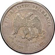 USA, 1 trade dollar, silver (27.2 g), San Francisco, 1875