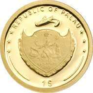 Palau / 1 Dollar / Gold .9999 / 0.5 g / 11 mm / Mintage: 25,000.