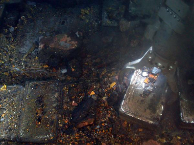 Using advanced robotics, Odyssey recovers silver from the SS Gairsoppa shipwreck, which lies approximately 4700 meters deep in the North Atlantic. Photo: Odyssey Marine Exploration, Inc., www.odysseymarine.com