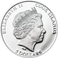 Cook Islands / 5 Dollars / Silver .925 / 20g / 38.61mm / Mintage: 2,500.