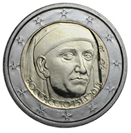 Italy / 2 EUR / copper, nickel and brass / 8.50 g / 25.75 mm / Design: Claudia Momoni / Mintage: 12.000.