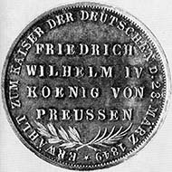 Frankfurt. Medal on the election of Frederick William IV as