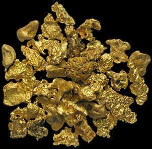 Greedy: Gold nuggets from the Klondike River triggered one of the biggest «gold rushes» in Alaska from 1896 onwards. (Source: MoneyMuseum)