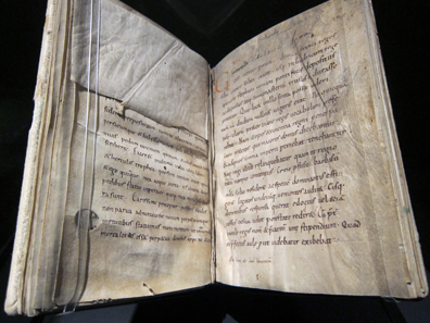 A tenth-century copy of Charlemagne's biography written by Einhard. Stiftsbibliothek Kloster Einsiedeln. Photo: UK.