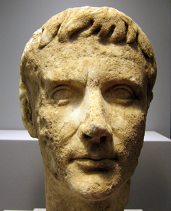 Portrait of the first Roman emperor Augustus. Photo: KW.