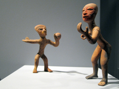Teotihuacán / Mexico. Dancers, 3rd to 5th century CE. Photo: KW.