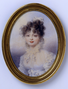 Grand Duchess Catherine Pavlovna (1788-1819), later Queen Catherine of Württemberg. Watercolour on ivory, Vienna, 1815. © H. Zwietasch, Landesmuseum Württemberg, Stuttgart.
