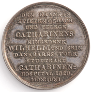 Medal on laying of the foundation stone of the Catherine's hospital. MK 12849.