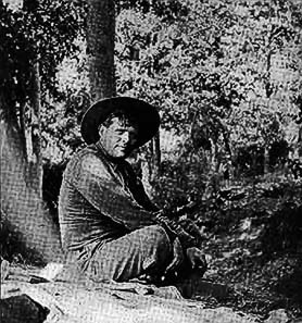Jack London on his ranch, photograph from 1914