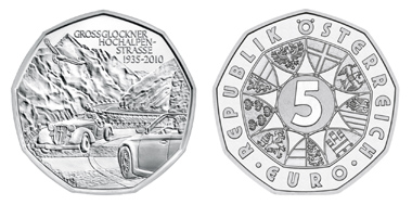 Austria. 5 Euro, Austrian Mint, Design: Thomas Pesendorfer and Helmut Andexlinger, Date of issue: June 16, 8 g, silver 800/1000, diameter 28,5 mm; mintage: 250.000 (circulation pieces), 50.000 (uncirculated).