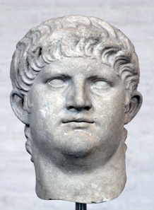 Head of Nero, after 64 AD. Glyptothek, Munich.