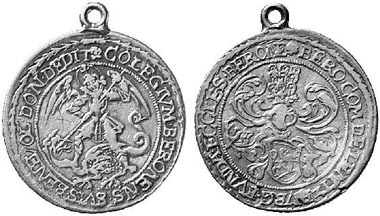 Medal featuring St. Michael, ca 1619. Künker 77 (2002), 1036.