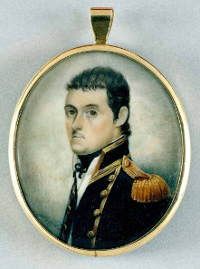 Watercolour miniature portrait of British navigator Matthew Flinders, dated about 1800. Source: State Library of New South Wales / http://creativecommons.org/licenses/by-sa/3.0/au/deed.en