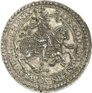 Ernst of Holstein-Schaumburg, 1601-1622.  Medal with the weight of a thaler. Lange 837. From auction sale Künker 244 (6th February 2014), no. 315. Of greatest rarity. Extremely fine. Estimate: 25,000 euros.