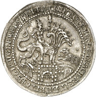 Ernst of Holstein-Schaumburg, 1601-1622. Medal with the weight of a 1/2 thaler. Lange 838. From auction sale Künker 244 (6th February 2014), no. 316. Of greatest rarity. Extremely fine. Estimate: 25,000 euros.