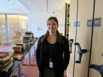 Elizabeth Hahn is responsible for the other big collection at the ANS: the library. Photo: UK.