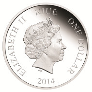 Niue / 1$ / 1/2oz 999 silver / 32mm / Mintage: 5,000.