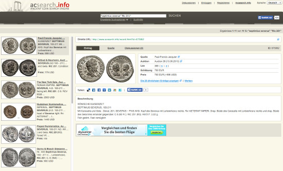 coin search engine