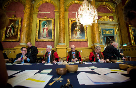 The Trial of the Pyx is an historic event and 730 years old. Photograph: The Goldsmiths' Company/Richard Lea-Hair