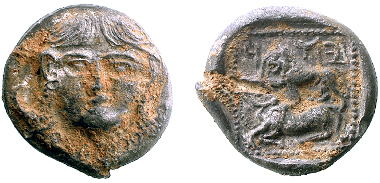 The new drachm of Judah before cleaning.