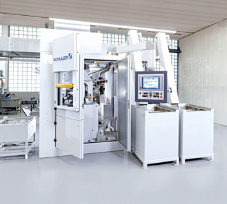 Minting press of Schuler's MRV series. Photo: Schuler Group.