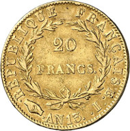 433: France. Napoleon I, 1804-1814, 1815. 20 francs AN 13 (1804/5), Limoges. Very rare. Very fine. Estimate: 2,000 euros. Hammer price: 12,000 euros.
