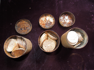 The coins were stored chronologically. Photograph: Kagin's.