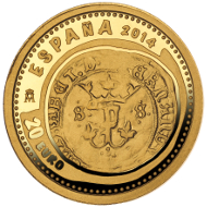 Spain / 20 euros / 1/25oz 999 gold / 13.92mm / 1.24g / Mintage: 10,000.