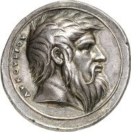 Lot 3380: MEDALS. Valerio Belli, called Vicentino, 1468-1546. Medal n. d. (c. 1539-1542) on Spartan king Lycurgus. From auction sale Astarte 8 (2001), 121. Extremely fine. Estimate: 10,000 euros. Final price: 20,500 euros.