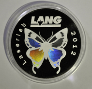 One of Lang's new developments: the rainbow-effect on coins. Photo: Lang GmbH & Co. KG.