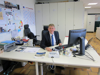 Joachim Steidel's office. Photo: UK.