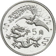 5 Jiao / Silver (2 g) / Mintage: 50,000.