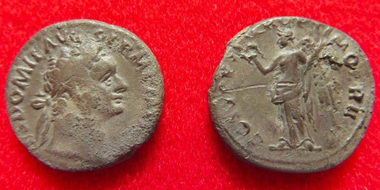 Two denari of the Roman coin hoard. © Inverness Museum and Art Gallery.