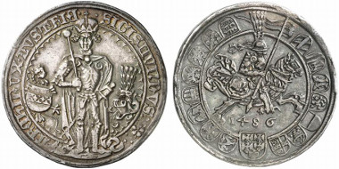 Probably the most famous 'tournament coin' in the history of numismatics: the guldengroschen of Sigismund, Archduke of Austria.