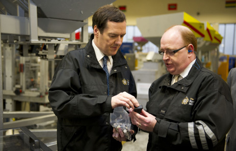Every year many members of the public ask to visit the Royal Mint. In March 2014 George Osborne, Chancellor of the Exchequer, visited The Royal Mint.