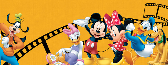 Goofy, Daisy Duck, Mickey Mouse, Minnie Mouse, Donald Duck and Pluto (left to right). © Disney.