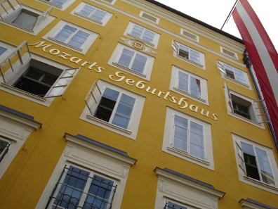 Mozart's birthplace in Salzburg. Source: Jonathan White/ Wikicommons.
