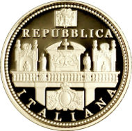 Italy/ 20 Euros/ Gold/ 6.45 g/ 21 mm/ Mintage: 1,500.