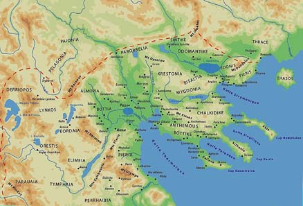 Map of ancient Macedonia. Source: Wikipedia.
