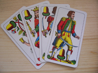 German cards. Source: Wikicommons.