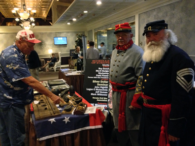 The Nevada Civil War Association with historical exhibits. Photo: CKShows.com