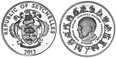 Seychelles/ 25 Rupees/ Silver 925/ 28.28 g/ 38.6 mm/ Mintage: 10,000.