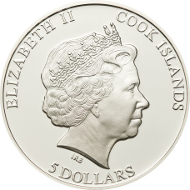 Cook Islands / 5 Dollar / Silver .925 / 20 g / 38,61 mm / Mintage: 2.500.